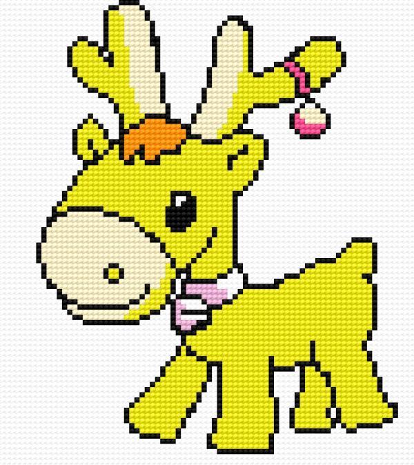 A small reindeer