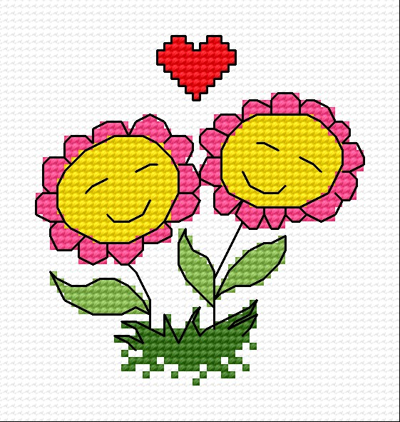 Flowers in love