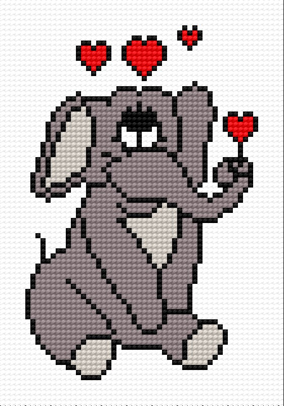 A small elephant in love