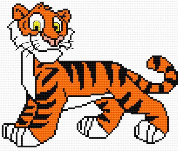 A small tiger