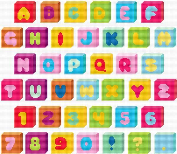 Alphabet,, bobbins