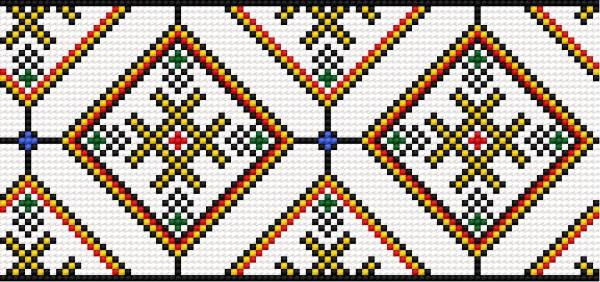 Pattern based on lubelski fashion