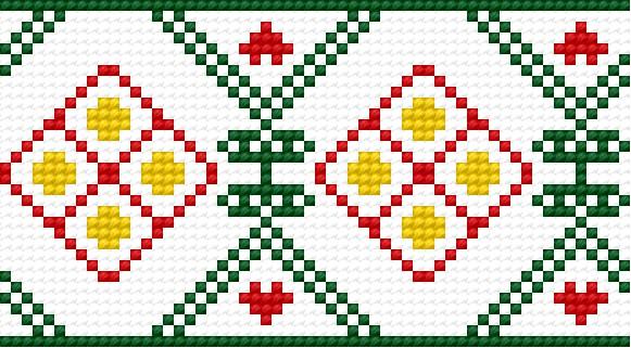 The pattern based on warminsko-mazurskie fashion