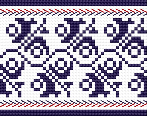 Traditional pattern from Wlodawa (early 20th c.)