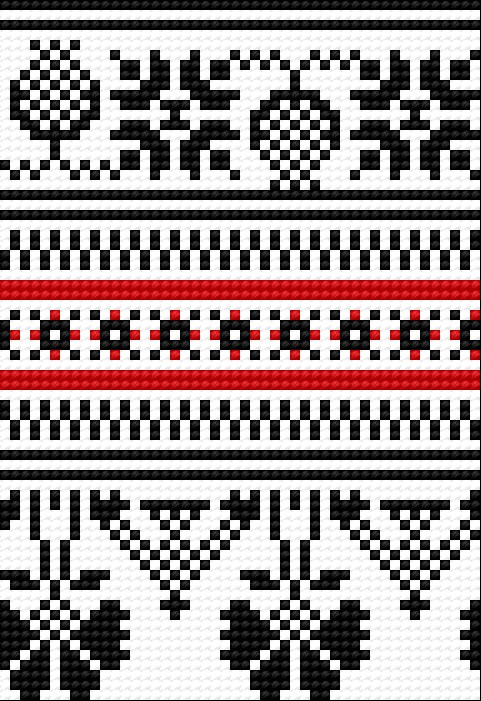 Traditional pattern from Opoczno (Polish city)