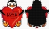 Penguin heart - pendant