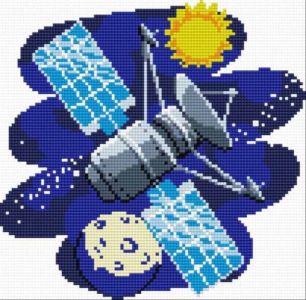 Podgl d haftu for Outer space pattern