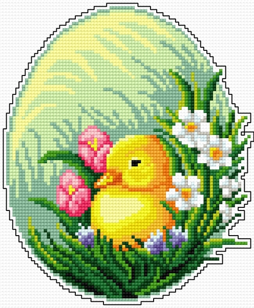 Easter egg - little chick