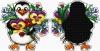 Penguin pendant - A bouquet