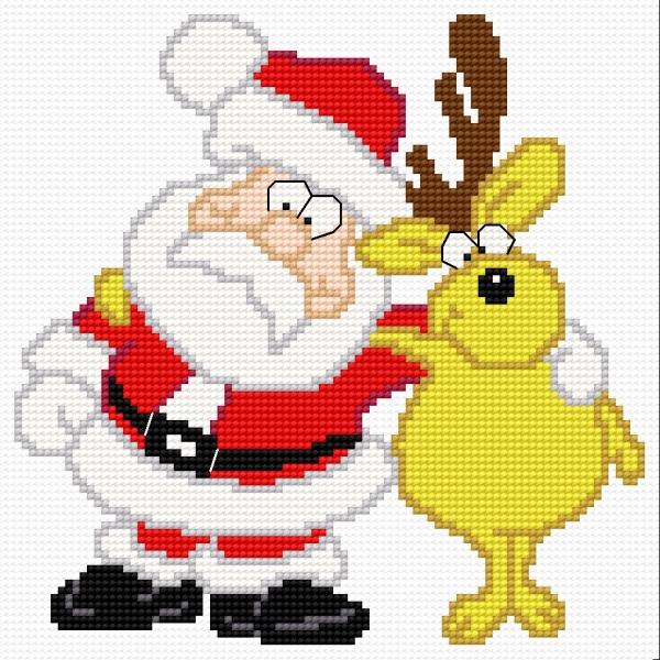 Santa Claus with a reindeer