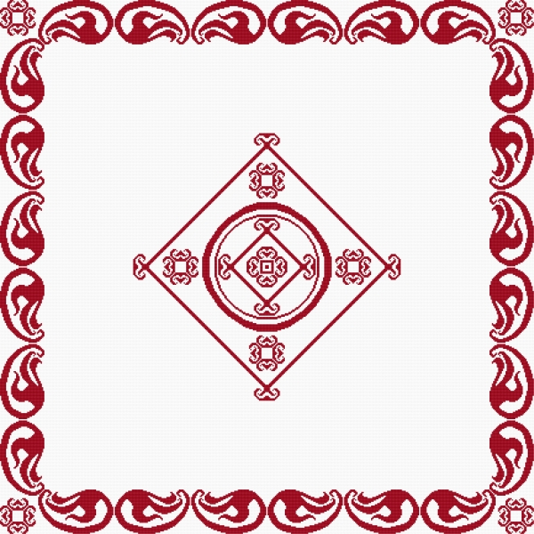 A table cloth - the red motive