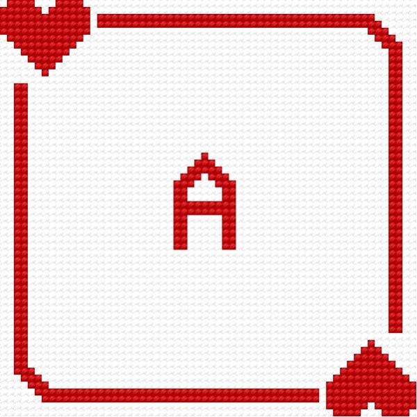 Biscornu - Ace of heart